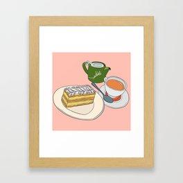 Aftenoon Cake Treat Framed Art Print
