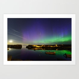 Shooting Star Aurora at Lanes Cove Art Print