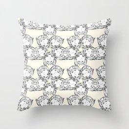 "series ""rostidade em mandala"" - girl Throw Pillow"