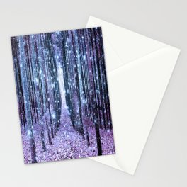 Magical Forest Lavender Ice Blue Periwinkle Stationery Cards