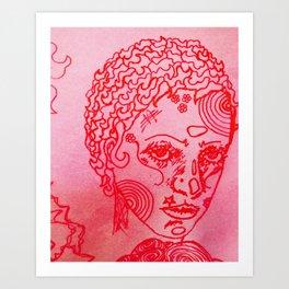 C O C O (cinnabarmart) Art Print