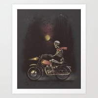Death Rides in the Night Art Print