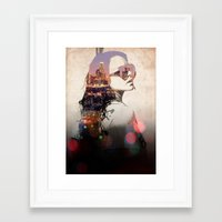 lindsay lohan Framed Art Prints featuring LA - LOHAN by Tiaguh