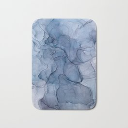 Blue Abstract Bath Mat