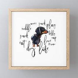 Dog Life Framed Mini Art Print