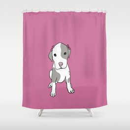 Millie The Pitbull Puppy Shower Curtain