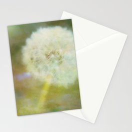 Dandelion Wishes Yellow Stationery Cards