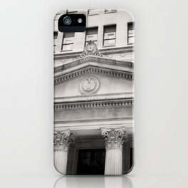 Federal Reserve Bank of Chicago Black and White iPhone Case