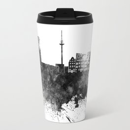 Bremen skyline in black watercolor Travel Mug
