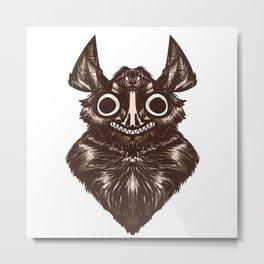 Geometric Bat Metal Print