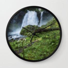 Sahalie Falls No. 2 Wall Clock