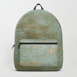 Metallic Effects Oxidized Copper Verdigris Industrial Rustic Backpack