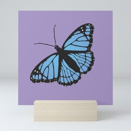 Blue viceroy butterfly Mini Art Print