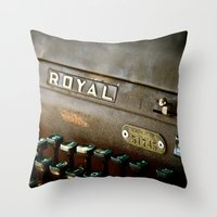 writer Throw Pillows featuring Writer  by Rick Staggs