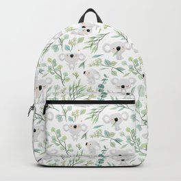 Koala and Eucalyptus Pattern Backpack