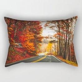 autumnal road in vermont Rectangular Pillow