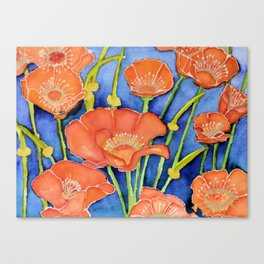Pardon my Poppies Canvas Print