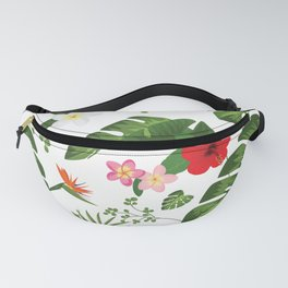Tropical Flower Background Fanny Pack