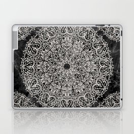 MANDALA ON BLACK MARBLE Laptop & iPad Skin