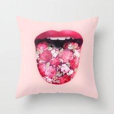FLORAL KISS Throw Pillow