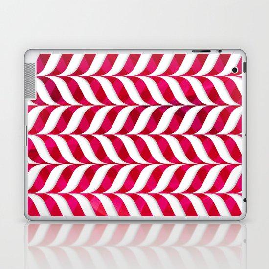Red Leaf Herringbone Laptop & iPad Skin