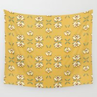 lotus flower Wall Tapestries featuring Lotus by huemula
