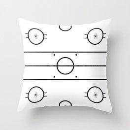 Ice Hockey Rink Throw Pillow