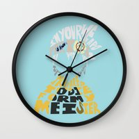 soul eater Wall Clocks featuring soul eater evans by Rebecca McGoran
