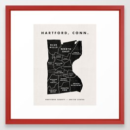 Hartford Map Framed Art Print
