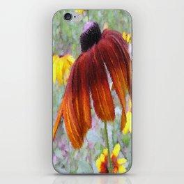 Painted Blanket Flower iPhone Skin