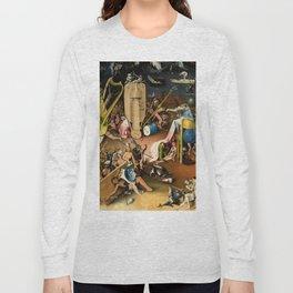 The Garden of Earthly Delights - Bosch - Hell Bird Man Detail Long Sleeve T-shirt