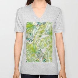 Tropical Palm Leaves Design Unisex V-Neck