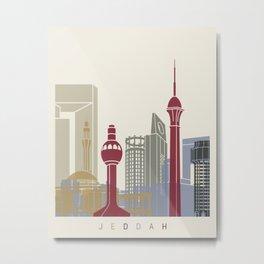 Jeddah skyline poster Metal Print
