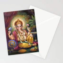 Lord Ganesha, Remover Of Obstacles, Patron Deity Of Writers. Stationery Cards