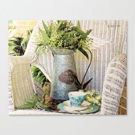 Tea On The Verandah Canvas Print