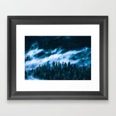 THE LAST FOREST - RISE ABOVE THE FOG ↟↟※↟↟ Redwood Park trees foggy tree nature blue tote bag Framed Art Print