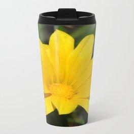 Bright Yellow Gazania Flower Travel Mug