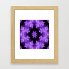 Purple Star in the Night.... Framed Art Print
