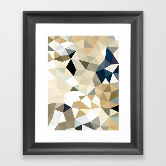 Neutral Tris Framed Art Print