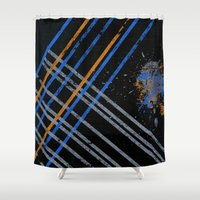 grid Shower Curtains featuring Grid by Last Call