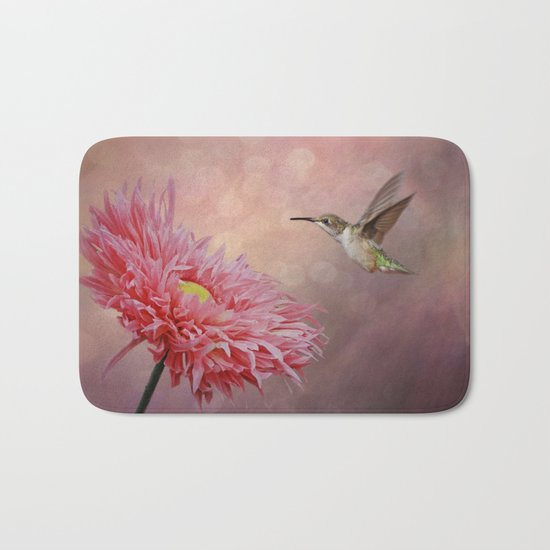 A Hummingbirds Dance Bath Mat