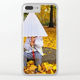 Girl with a Parasol Clear iPhone Case