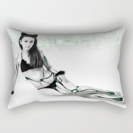 Lady geek Rectangular Pillow