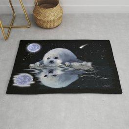 Destiny - Harp Seal Pup & Ice Floe Rug