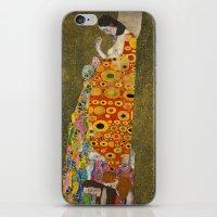 gustav klimt iPhone & iPod Skins featuring Gustav Klimt - Hope, II by TilenHrovatic