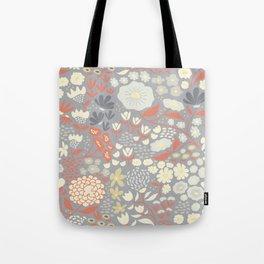 Twilight Flowers Tote Bag