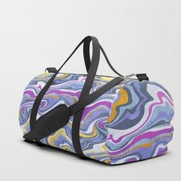 Rainbow gemstone slice // gold purple and ultra violet Duffle Bag