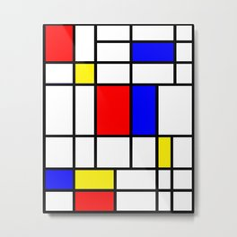 Mondrian #64 Metal Print