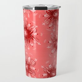 Red Christie Rose Travel Mug