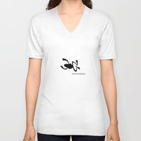 frog V-neck T-shirts featuring Frog by rob art | patterns